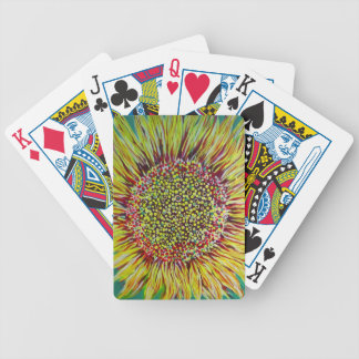 Super Bright Sunflower Designer Playing Cards