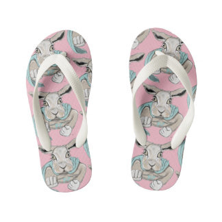 Super Bunny Kid's Flip Flops