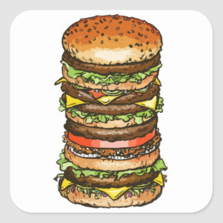 Super Burger Sticker