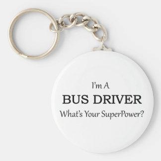 Super Bus Driver Basic Round Button Keychain