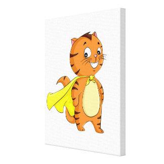 Super Cat Cartoon Canvas Print