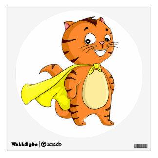 Super Cat Cartoon Wall Decal