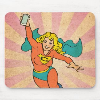 Super Cell Phone Girl/Woman Mouse Pad