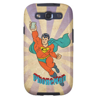 Super Cell Phone Man Samsung Galaxy S3 Covers