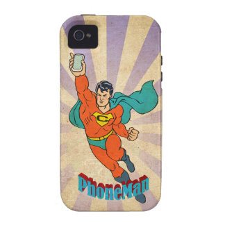 Super Cell Phone Man iPhone 4/4S Cases
