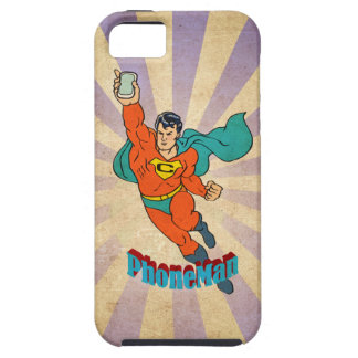 Super Cell Phone Man iPhone 5/5S Cover