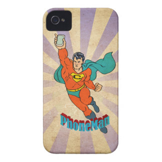 Super Cell Phone Man iPhone 4 Case-Mate Case