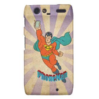 Super Cell Phone Man Motorola Droid RAZR Cases