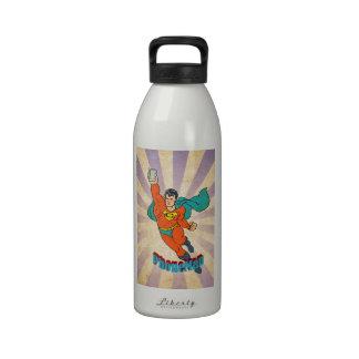 Super Cell Phone Man Reusable Water Bottle