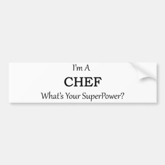 Super Chef Bumper Sticker