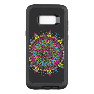 Super Colorful Mandala Design OtterBox Defender Samsung Galaxy S8+ Case