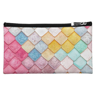 Super Colorful Tile Pattern Makeup Bag