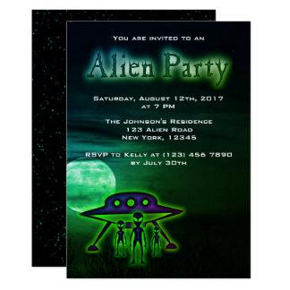 Super Cool Alien Party Invite
