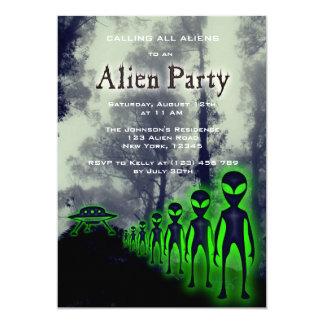 Super Cool Alien & UFO Party Invite