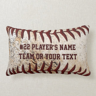 Super Cool Baseball Team Pillows with YOUR TEXT