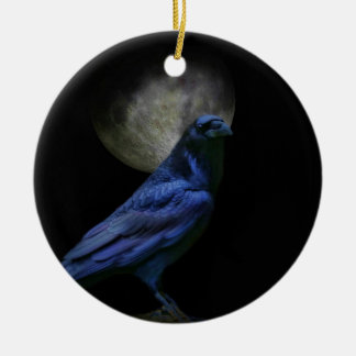 Super Cool Gothic holiday Ornament with Raven