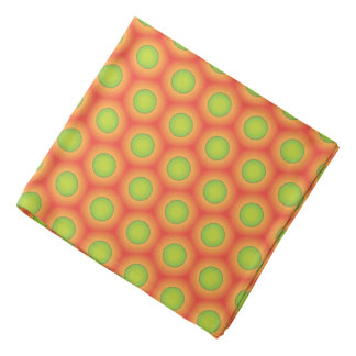 Super cool green & orange pattern design bandana
