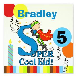 Super Cool Kid Customized Birthday Invites