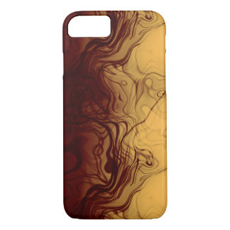 Super Cool Marbleized Amber Pattern iPhone 7 Case
