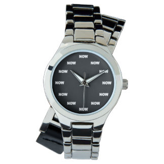 "Super Cool ""NOW"" (Black Background) #8 Wrist Watch"