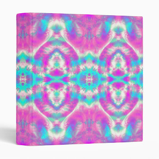 SUPER COOL Pink and Blue Abstract Pattern 3 Ring Binder