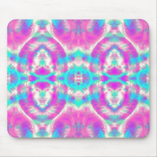 Super Cool Pink and Blue Abstract Pattern Mouse Pad