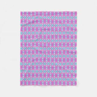 SUPER COOL Pink and Blue Pattern Fleece Blanket