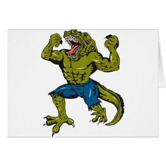 Super Croc Greeting Card