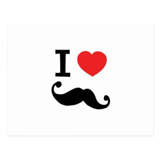 Super curly, twirly Moustache, I LOVE MOUSTACHE Postcard