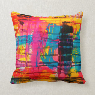 Super cushion colored abstract art