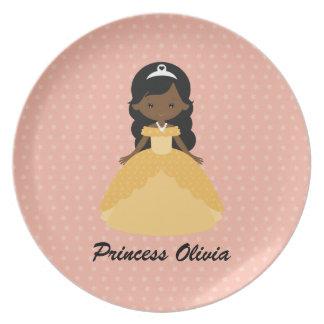 Super Cute Afro American Princess Plate