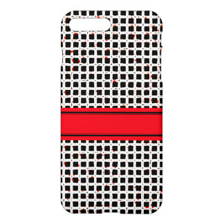Super Cute Black White Red Pattern Chic iPhone 8 Plus/7 Plus Case