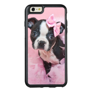 Super Cute Boston Terrier Puppy Wearing A Boa OtterBox iPhone 6/6s Plus Case