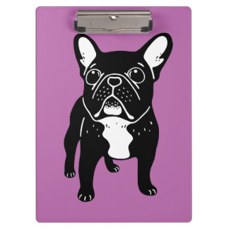 Super cute brindle French Bulldog Puppy Clipboard
