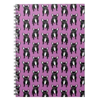 Super cute brindle French Bulldog Puppy Notebooks