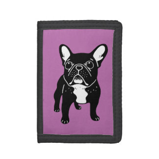 Super cute brindle French Bulldog Puppy Trifold Wallet