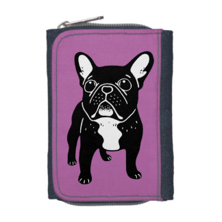 Super cute brindle French Bulldog Puppy Wallet