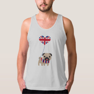 Super Cute Brit Pug with Balloon Customize Tank Top