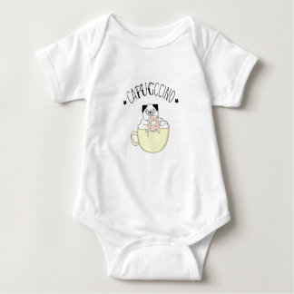 Super Cute CaPUGccino! Pugs & Coffee, what else? Baby Bodysuit
