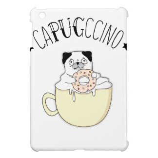 Super Cute CaPUGccino! Pugs & Coffee, what else? Cover For The iPad Mini