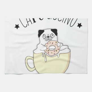 Super Cute CaPUGccino! Pugs & Coffee, what else? Towels