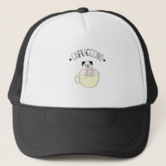 Super Cute CaPUGccino! Pugs & Coffee, what else? Trucker Hat