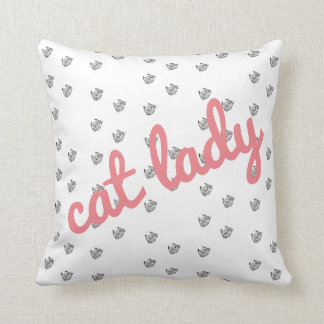 Super Cute Cat Lady Pillow