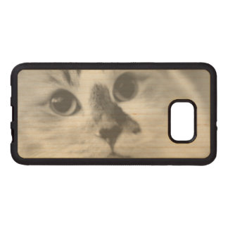 SUPER CUTE Cat Portrait Photograph Wood Samsung Galaxy S6 Edge Case