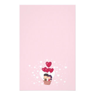 Super Cute Couple Air Balloon Stationary Stationery