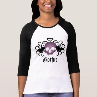 Super cute goth vampire skull baseball style T-Shirt