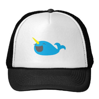 Super cute happy NARWHALE Mesh Hats
