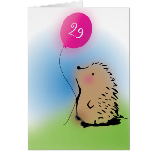 Super cute hedgehog birthday wish card