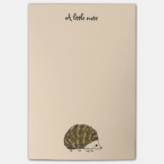 super cute hedgehog post-it notes