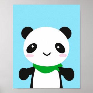 Super Cute Kawaii Panda Poster